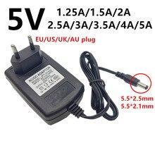 5V 5volt ac dc universal Power Adapter 1.25A 1.5A 2A 2.5A 3A 3.5A 4A ac/dc Adaptor 220V To 5 V Volt power supply 5.5mm adaptador
