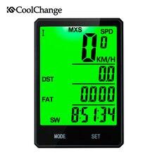 2017 CoolChange 2.8 Large Screen Bicycle Computer Rainproof Wireless Bike Speedometer Odometer Cycling Stopwatch