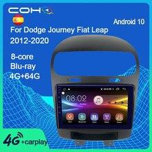 Coho Voor Dodge Journey Fiat Leap 2012-2020 Android 10.0 Octa Core 6 + 128G Gps Navigatie Auto multimedia Speler Radio