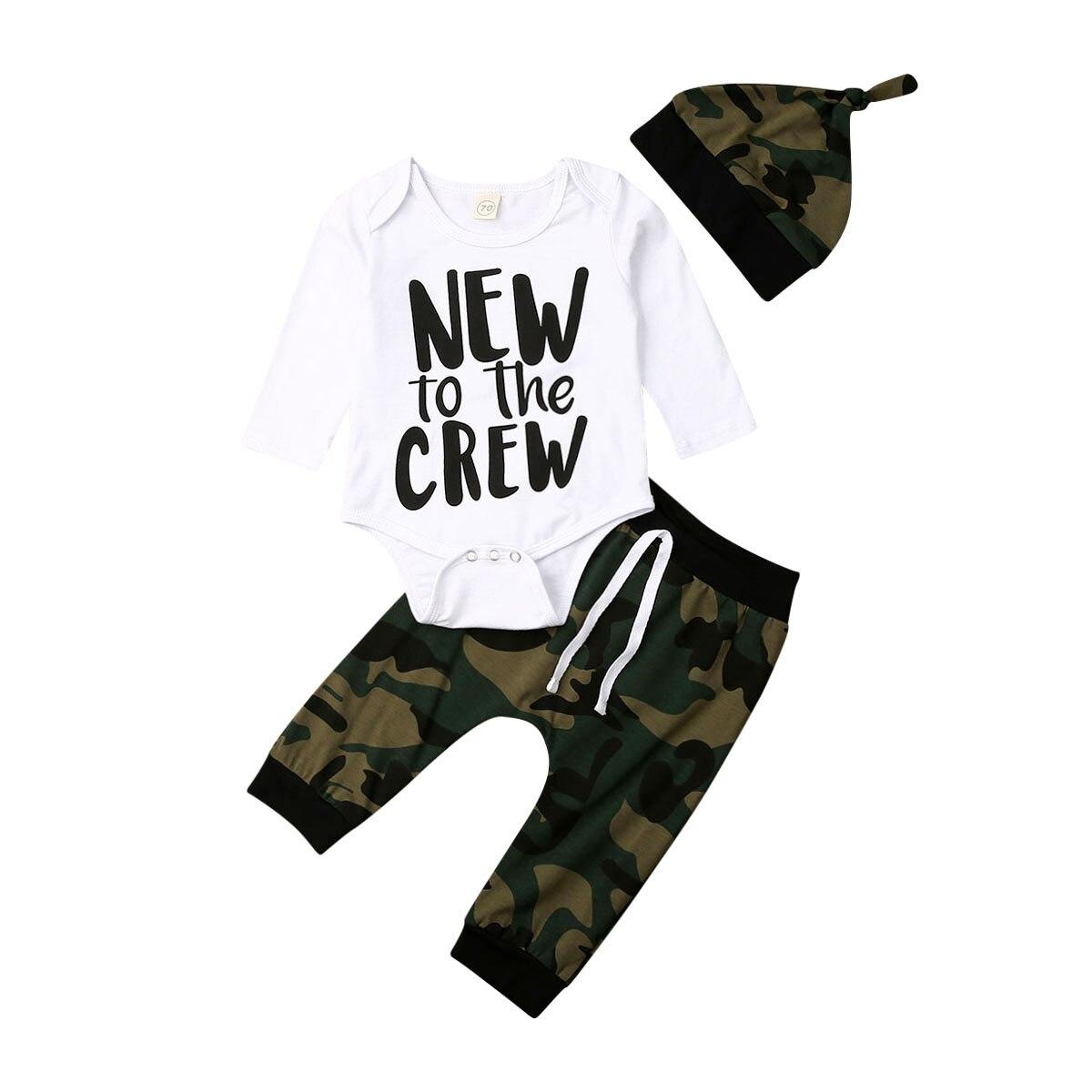 US Newborn Baby Boy Letter Prints Romper Bodysuit Jumpsuit Pants Outfits Clothes