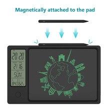 2021 nuovo orologio da 10 pollici calendario LCD tavoletta da scrittura disegno grafico digitale elettronico visualizzazione dell'umidità della temperatura del cuscinetto meteorologico