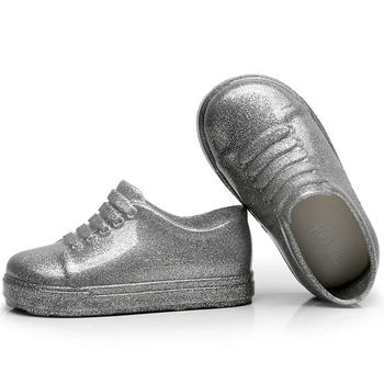 Shoes for Kids PVC Child Waterproof Soft Soled Toddler Anti-slippery Function Crystal Fashion Design