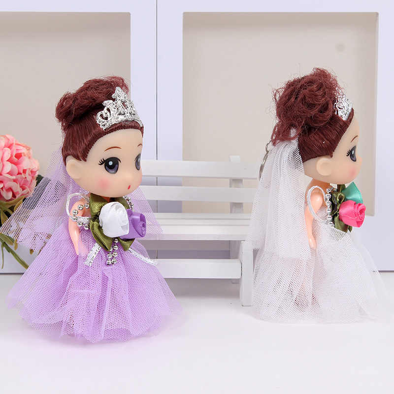 素敵な糸スカート人形本体可動関節子供玩具ガールズギフトウェディングドレス人形 игрушки куклы 12 センチメートル
