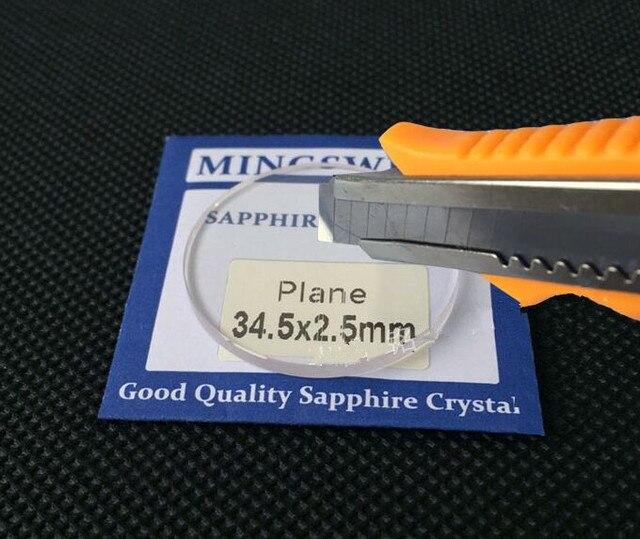 Zafiro redondo plano de 2,5mm de espesor de 30mm a 40mm de tamaño