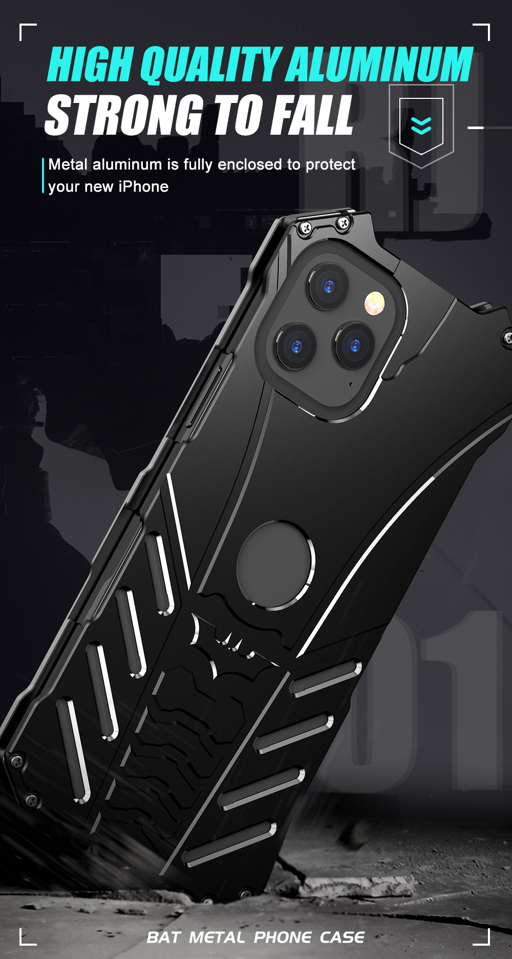 iPhone 12 Batman Aluminum phone case (2)