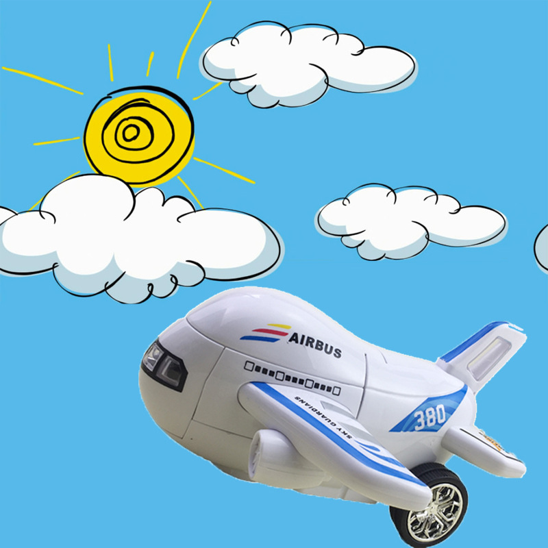 Manufacturers Direct Selling Children New Style Electric Universal Airplane Automatic Transformation Airplane Light Included Lig