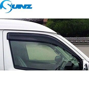 Déflecteurs de fenêtre latérale noire protecteurs de pluie pour Toyota Hiace 200 2005-2018 Winodow pare-Vent pare-soleil pluie déflecteur garde SUNZ