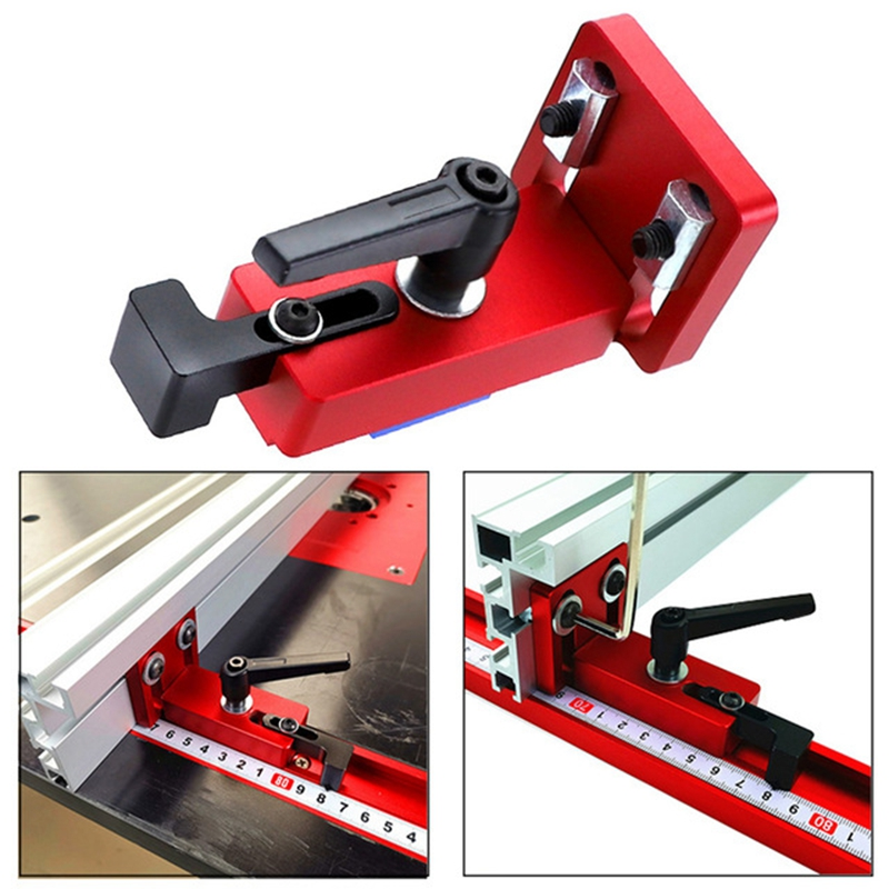 Woodworking Track Stop Rail Retainer 30/45 T-Slot Miter Stand Chute Locator Track Stop Sliding Miter Gauge Fence Connector