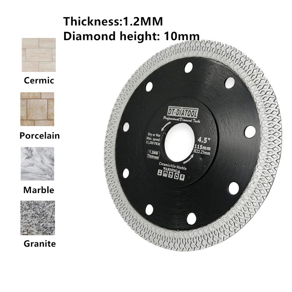 "Image 3 - DT DIATOOL 1pc Dia 4"" 12"" Super thin Diamond Cutting Disc X Mesh Turbo rim segment Saw Blades for Ceramic Tile Porcelain-in Saw Blades from Tools"