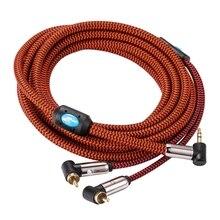Hifi Audio Cable Angle Mini Jack 3.5mm to Dual RCA for PC MP3 Headphone Car Soundbox 3.5 to 2 RCA AUX Cable 1M 2M 3M 5M 8M 10M