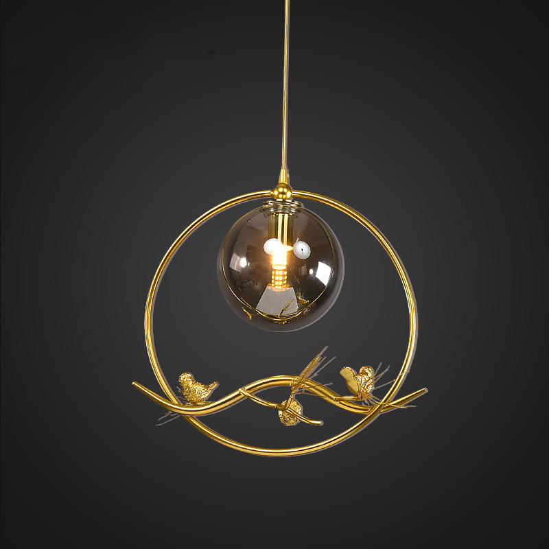 Nordic Glass Pendant Lights Lamp Iron Pendant Lighting Living Room Dining Room Bedside Bedroom Loft Home Decor Hanging Lamp