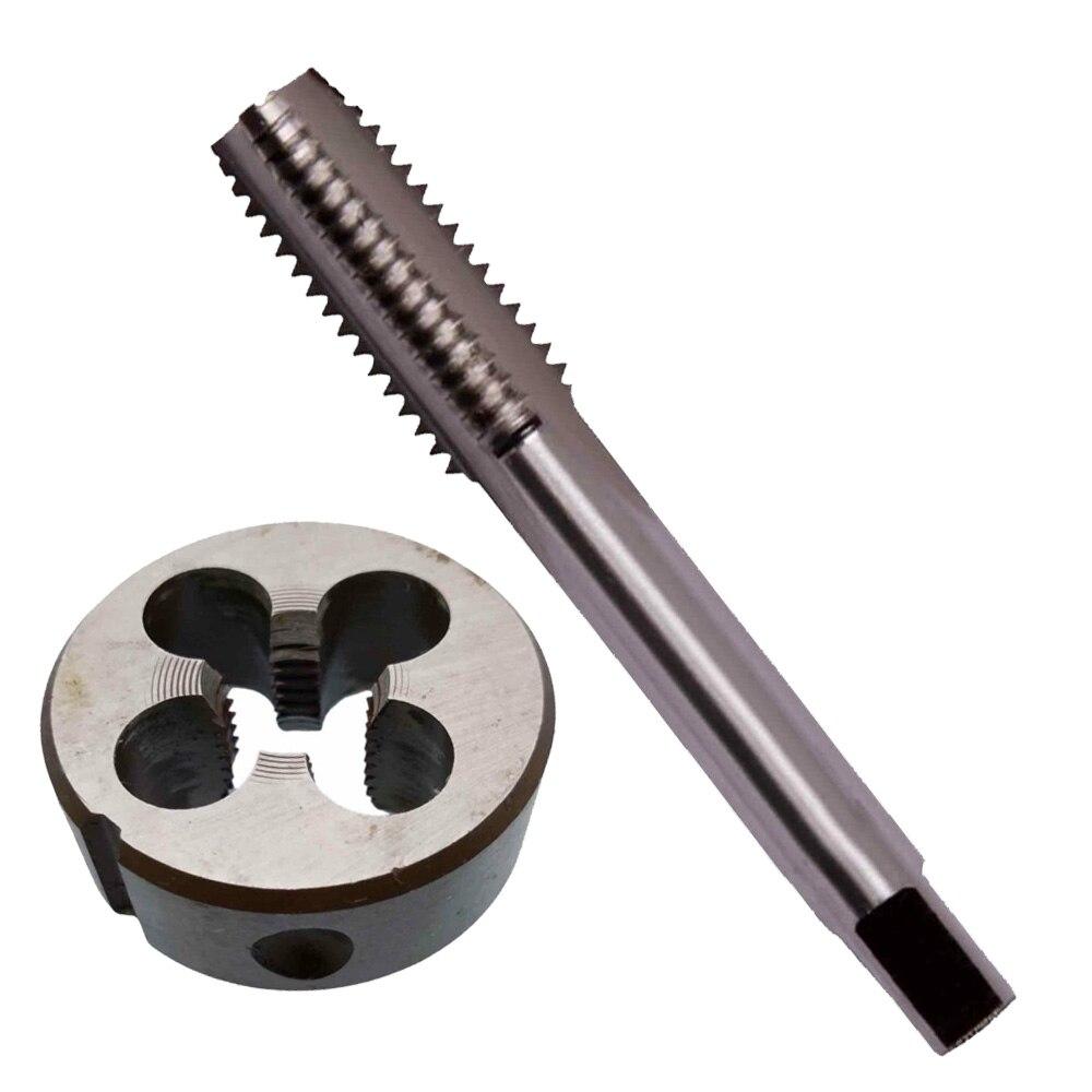 1pc HSS M11 X 1.25mm Plug Left Tap and 1pc M11 X 1.25mm Left Die Threading T