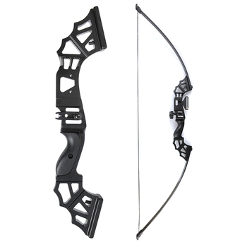 30/40/50 Lbs Straight Pull Bow 51 Inches with Arrow Rest T Shape Sight Suit Right Hand User for Archery Hunting Shooting