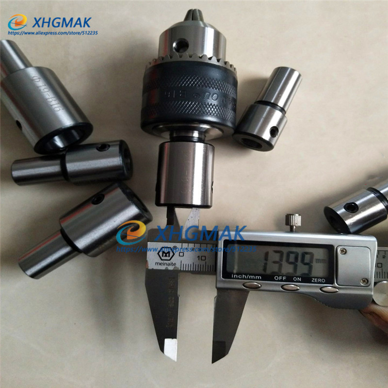 B10 B18 JT0 Drill Chuck Connecting Rod Motor Shaft Conversion Sleeve Coupling Shaft Sleeve Modified Drilling Machine 6mm-19mm