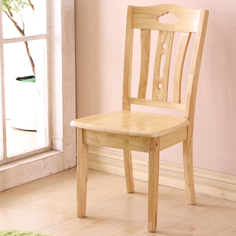 All Solid Wood Dining Chair Back Chair Home White Simple Modern Chinese Wood Stool Hotel Hotel Dining Table And Chairs