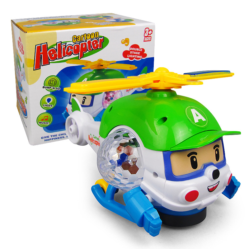New Style Hot Selling Children'S Educational Electric Helicopter Toy Universal China Mobile Light And Sound Cartoon Toy Helicopt