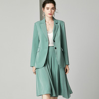 Office Ladies Suit Uniform Skirt and Suit for Women Professional Wear Work Outfits Two Piece Set Blazer Pleated Skirt Suits za