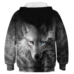 Image 5 - Wolf 3D Print Boys Girls Hoodies Teens Spring Autumn Outerwear Kids Hooded Sweatshirt Clothes Children Long Sleeve Pullover Tops