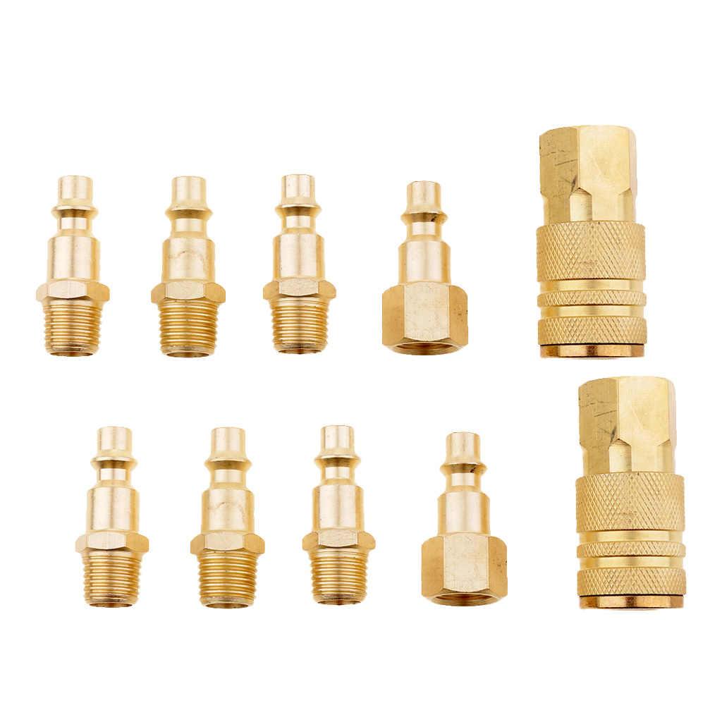 regulador de presi/ón rosca exterior accesorio de compresor de aire conector r/ápido de separador de agua Acoplamiento de aire comprimido de 1//4 pulgadas conector de acoplamiento