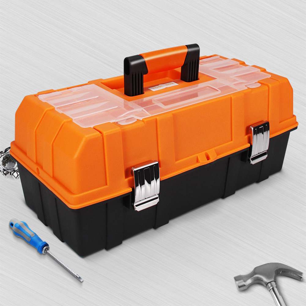 17inch Practical Sturdy Portable Large Capacity Foldable Three Layers Storage Case Craft Repair Organizer Multifunction Tool Box