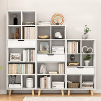 Northern European Style Bookcase Bookshelf Storage Shelf Minimalist Modern Children Simple Bookcase Floor Bedroom Creative Combi