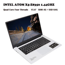 Ultra-thin Quad-Core Laptop 15.6'' Screen Display 1366*768pixel 4G+64G Windows10 INTEL ATOM X5-Z8350 1.44GHZ WIFI Wired 1(China)