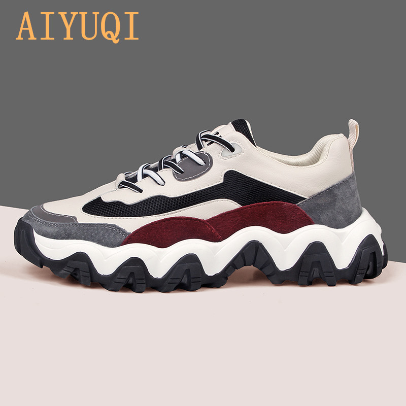 AIYUQI Women's Sneakers Platform 2020 Spring New Casual Women's Color-blocking Fashion Platform Shoes