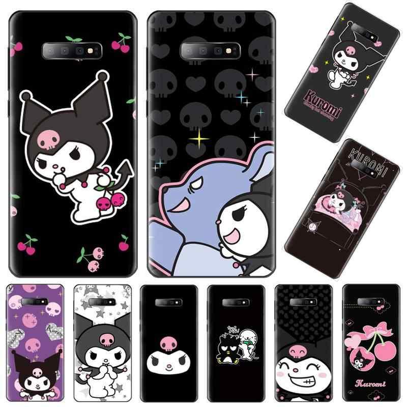 Kawaii Kuromi renkli karikatür siyah TPU telefon kapak için Samsung Galaxy S8 S9 S10 artı Lite S10E not 3 4 5 6 7 8 9 10 Pro kapak