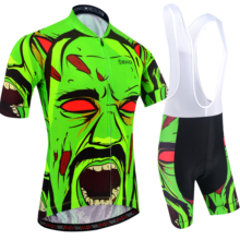 BXIO Mens Cycling Jerseys Fluo Green Short Sleeves And Gel Padded Shorts Breathable Suits Ropa Ciclismo 204