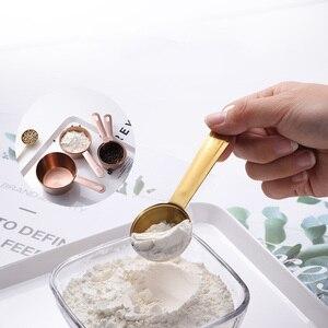 4 шт./компл. мерная ложка из нержавеющей стали мерные чашки розовое золото кофе чай мука кухонные весы Аксессуары для выпечки