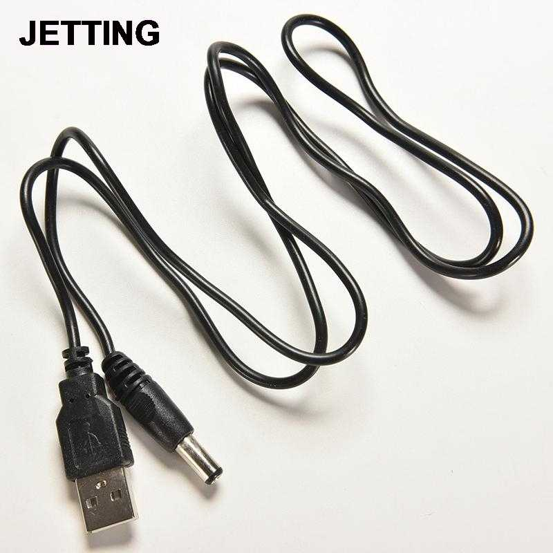 USB 2.0 to DC 5.5mm X2.1mm 80cm USB to Power Cord Cable Wire Electronic Data Line Accessories 1PC