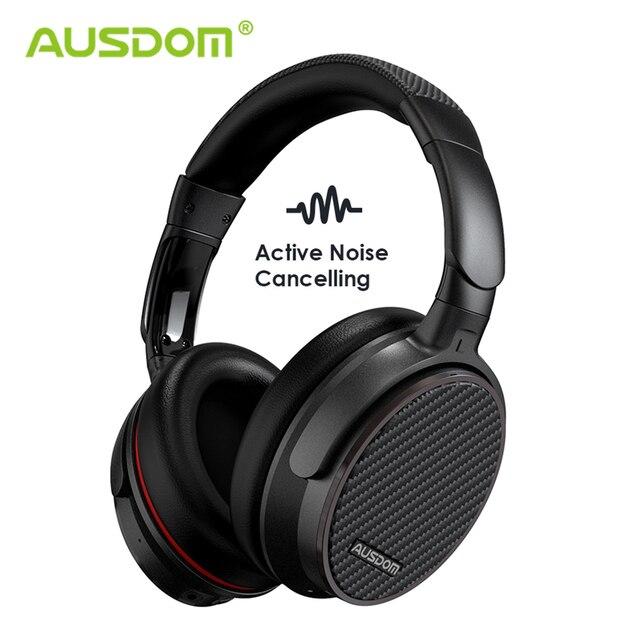 Ausdom ANC7S アクティブノイズキャンセルワイヤレス bluetooth ヘッドセットとマイク純粋なサウンドテレビスポーツ地下鉄飛行機