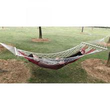 Hammock For Outdoor Travel Hamac Garden Hamak Camping Hammock Nylon Sleeping Bed Hanging Chair Mesh Net Hammock Garden Furniture orange black orange 300 200cm nylon hammock outdoor furniture
