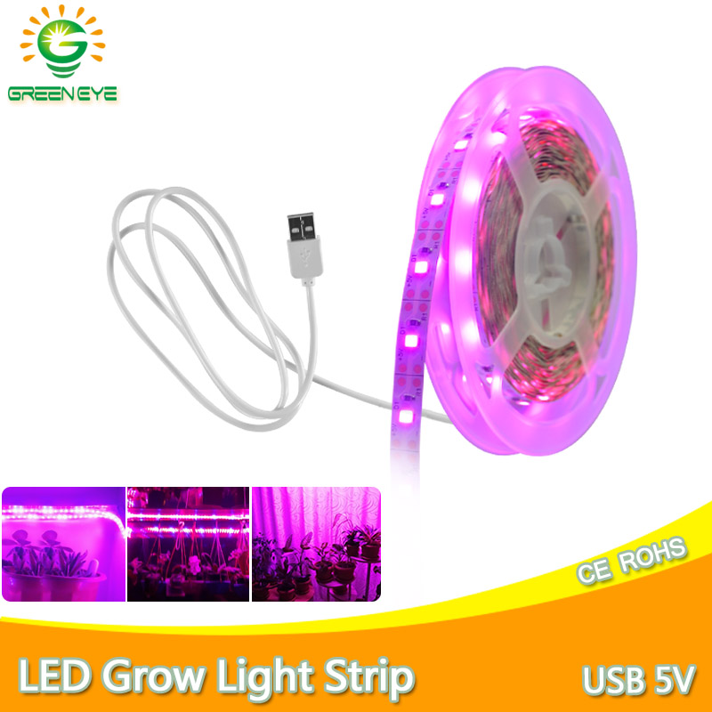LED Grow Light Full Spectrum LED Strip USB 5V 1m 2m 3m 0.5m SMD 2835 Chip LED Phyto Lamp For Greenhouse Hydroponic Plant Growing