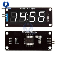 TM1637 4-Digit Digital LED 0.56 Display Tube Decimal 7 Segments Clock Double Dots Module 0.56 inch White Display For Arduino