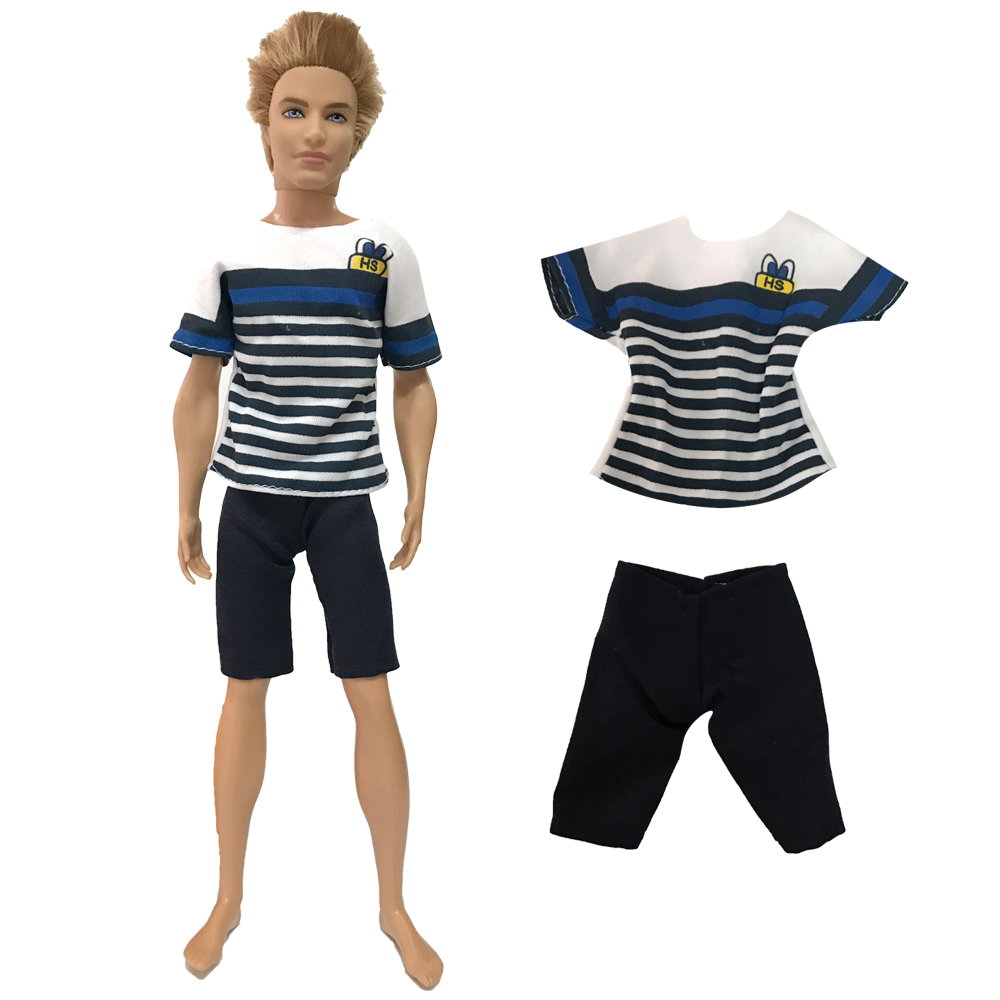 NK NEWEST Prince Ken Doll Clothes Fashion Suit Cool Outfit For Barbie Boy KEN Doll Children's Birthday Presents Gift 025D 9X