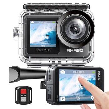 AKASO Mutig 7 LE 4K30FPS 20MP WiFi Action Kamera 4k mit Touchscreen Vlog Kamera EIS 2,0 Fernbedienung sport Kamera Wasserdicht