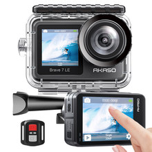 AKASO Brave 7 LE 4K30FPS 20MP WiFi Action Camera 4k with Touch Screen Vlog Camera EIS 2.0 Remote Control Sport Camera Waterproof