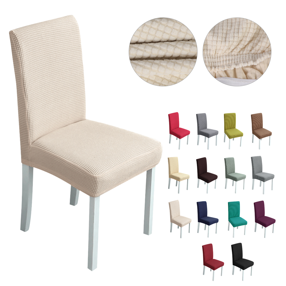 1/2/4pcs Velvet Jacquard Dining Chair Cover For Chairs Stretch Chair Cover Wedding Spandex Elastic Chair Slipcover Case