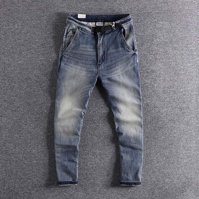 2019 New Arrival Fashion Designer Fit-in Straight-barrel Young Trousers Men's Jeans Handsome Boy's Wear For Promotion Sale