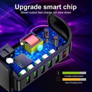 Image 5 - Elough 5 Port USB Ladegerät HUB Led anzeige Multi USB Ladestation Dock Universal Handy Desktop Wand Startseite EU UNS UK Stecker