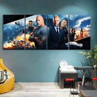 HOBBS & SHAW Movie Poster Art Canvas Paintings FAST AND FURIOUS Poster Wall Sticker Frameless Paintings Wall Art Decor
