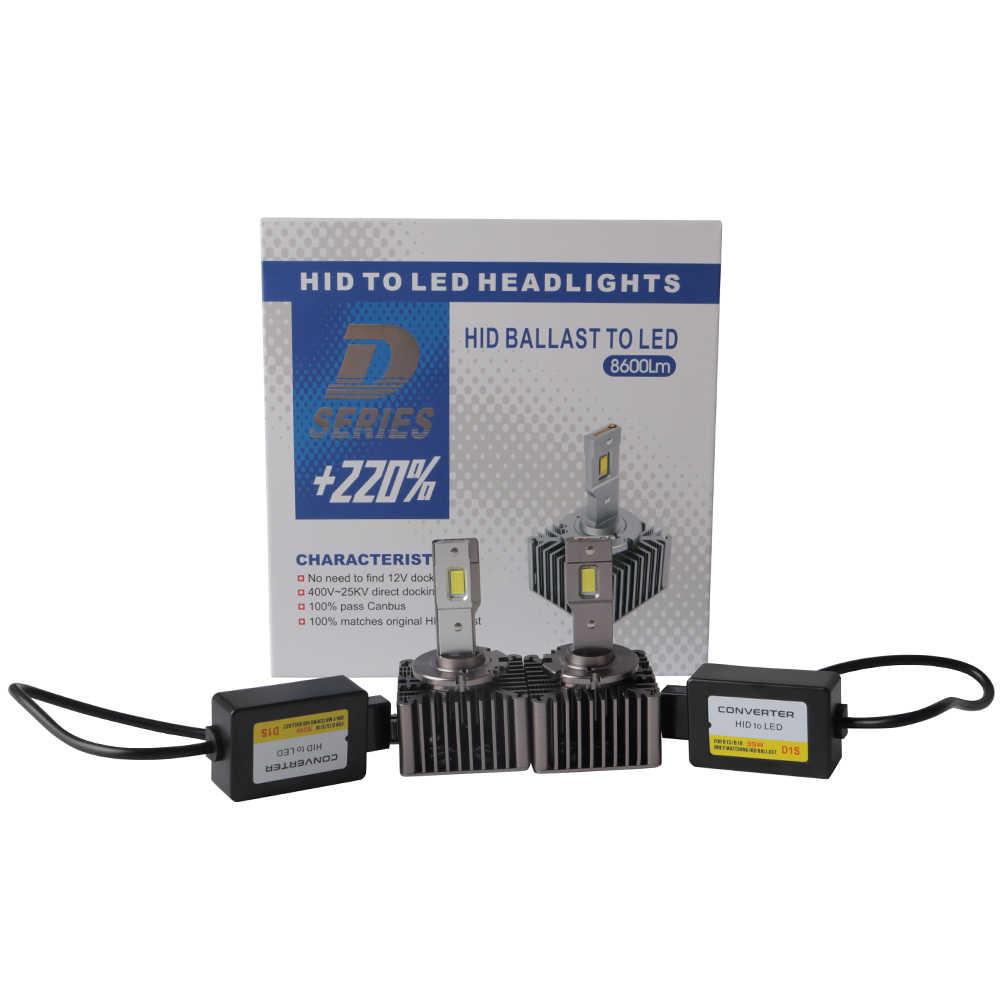 XENPLUS-éclairage de voiture, 2 pièces LED ampoule de voiture phare LED D1S D1R D2S D2R D3S D3R D4S D4R D5S D8S Auto DS2 6000 ampoule 70W 8600LM K