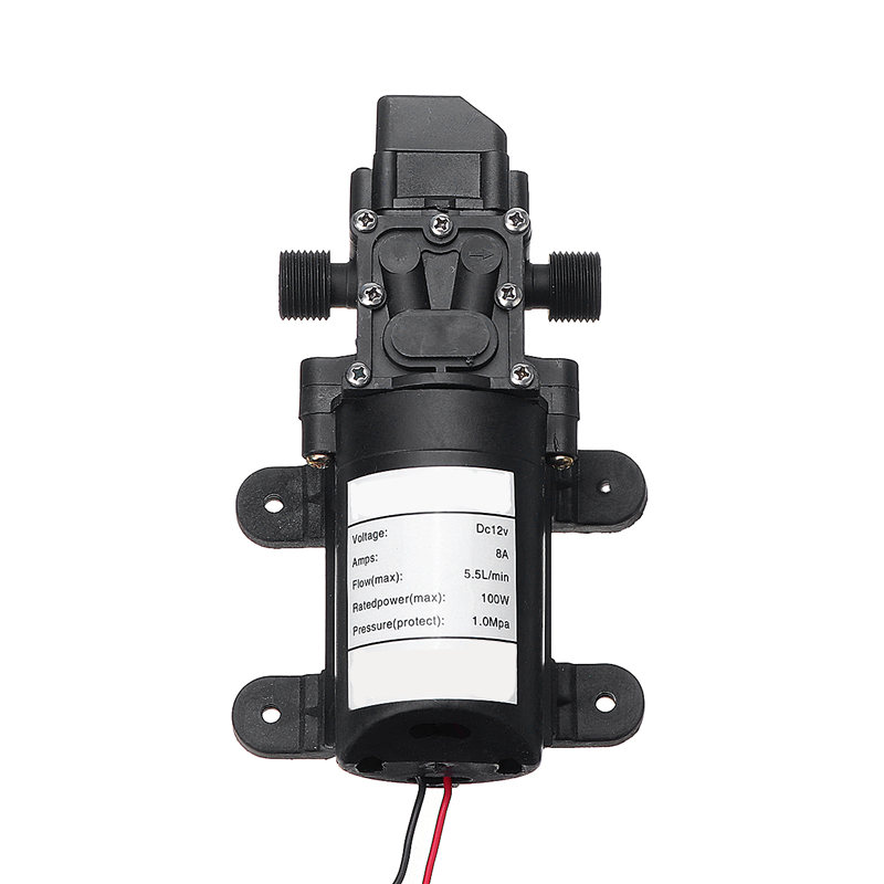 DC 12V 100W 5.5L/Min <font><b>130PSI</b></font> Water High Pressure Diaphragm Self Priming <font><b>Pump</b></font> Automatic Switch for Home Garden Lawn Car RV Boat image