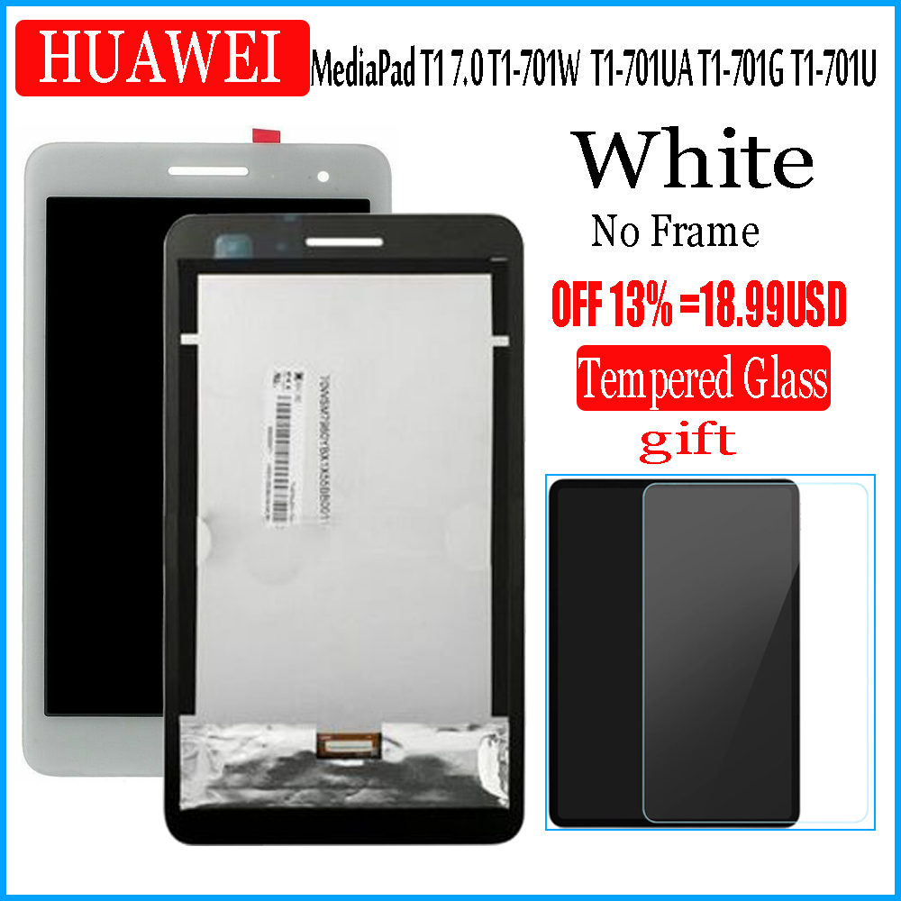 Huawei MediaPad T1 7.0 T1-701U LCD Display Touch Screen Digitizer Assembly White