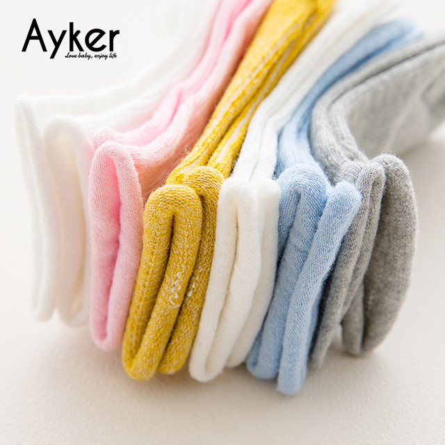3 Pairs Baby Socks Toddler 3 Color Newborn Girl Kids Short Socks Cotton Soft Comfortable Baby Socks Kids Accessories in Socks from Mother Kids