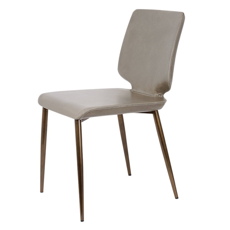 Nordic Dining Chair Household Modern Simple Table Chair Back Black Leather Model Room Dining Room Stool Light Luxury