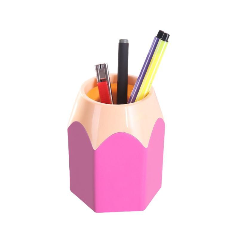 حار بيع الإبداعية قلم رصاص على شكل قلم رصاص وعاء يشكلون فرشاة حامل وعاء القرطاسية مكتب