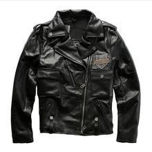 98010 Read Description! Asian size genuine cow skin leather jacket mens cowhide casual vintage biker leather jacket