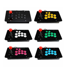 10 Bottons Zero Delay Acrylic Wired USB Arcade Joystick Fighting Stick Gaming Controller Gamepad Video Game For PC Desktops